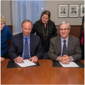 Ross Vet and Johns Hopkins leaders sign memorandum