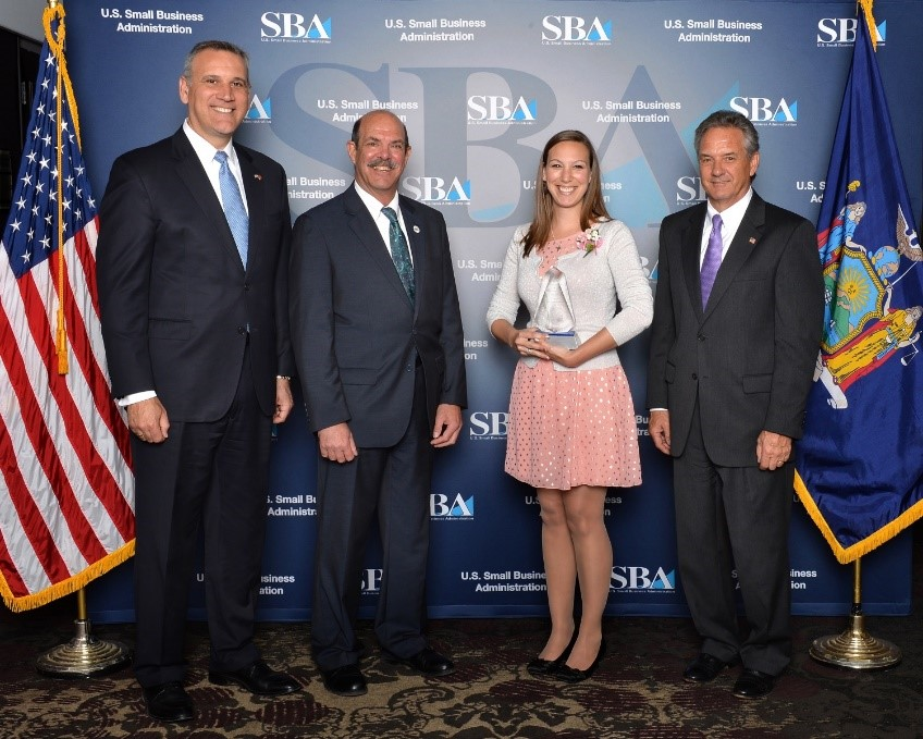 Ross Vet alumna Dr. Andrea Dattellas and Small Business Excellence award